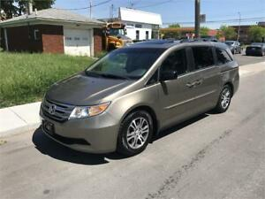 HONDA ODYSSEY 2011 EX-L,SUN ROOF ,DVD,LEATHER ,MINT CONDITION