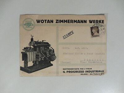 Wotan Zimmermann Werke. La limatrice Wotan. Cartolina pubblicitaria