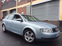 Audi A4 AVANT 2004 1.9 TDI SE 5 door (CVT) AUTOMATIC FULL SERVICE HISTORY, 2 OWNERS, LEATHERS