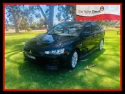 2008 Mitsubishi Lancer CJ MY09 VR-X Black Constant Variable Sedan Holden Hill Tea Tree Gully Area Preview