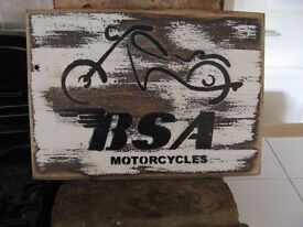BSA Wooden sign