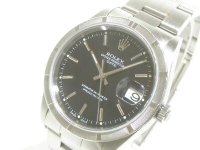 Auth ROLEX Oyster Perpetual Date 15210 Silver Men