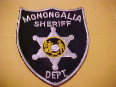 MONONGALIA COUNTY WEST VIRGINIA POLICE PATCH **** FREE SHIP IN USA **** GREY