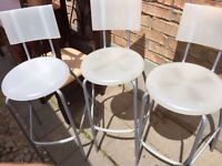 3 Ikea clear bar stools - good condition