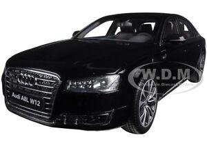2014 AUDI A8 L W12 PHANTOM BLACK 1/18 DIECAST MODEL CAR BY KYOSHO 09232 BK