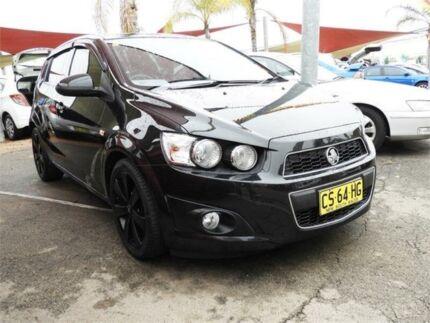 2012 Holden Barina TM MY13 CDX Black 6 Speed Automatic Hatchback Minchinbury Blacktown Area Preview