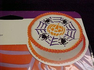 Halloween Pumpkin Spider Stencils (Wilton Stencil Halloween Pumpkin Spider Stencil NEW Jacko Lantern )