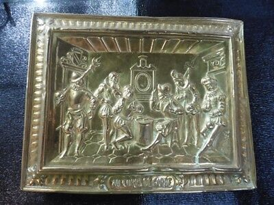 Plate Brass Regrowth Victorian Signed Raphael at the Parts of Garde