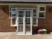 Solid Wood Unit of 2 Doors with 2 sidewindows all fully double glazed