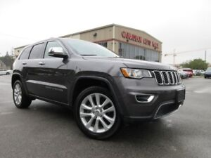 2017 Jeep Grand Cherokee 4X4 LIMITED, ROOF, LEATHER, 34K!