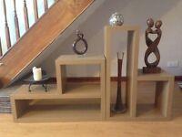 Next Opus Oak L Shaped Shelves