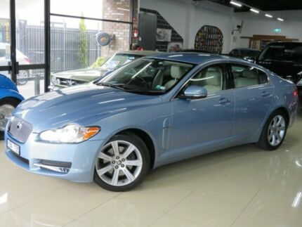 2010 Jaguar XF MY10 3.0 V6 Luxury Frost Blue 6 Speed Automatic Sedan Seaford Frankston Area Preview