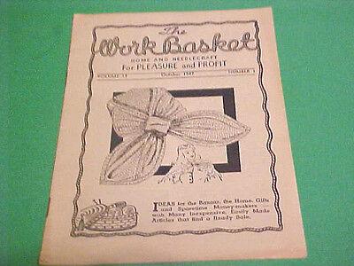 OCTOBER 1947 THE WORKBASKET HOME & NEEDLECRAFT FOR PLEASURE & PROFIT BOOKLET