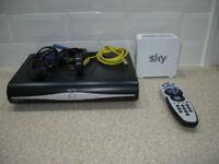 sky hd set top box modem remote and dish