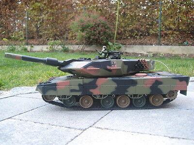 RC Panzer LEOPARD 2 ferngesteuerter Kampfpanzer Bundeswehr 25 Mtr Schußweite RTR