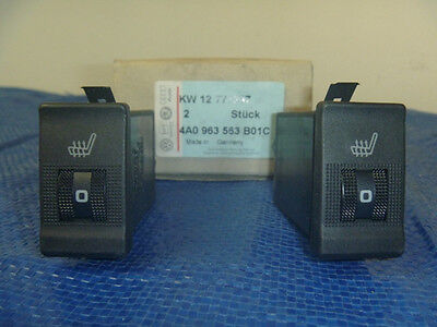 New 92-98 Audi 100 A6 S4 S6 Quattro Cabriolet Heated Seat Switch Control Set OEM