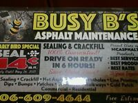 Busy B's Asphalt Maintenance. Clean and Seal Special!