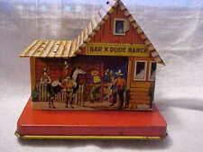 Vintage US Metal Tin Bar X Dude Ranch Lollipop Holder ...