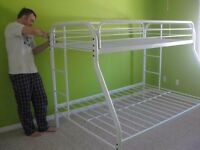 Twin over Double Metal Frame Bunkbed