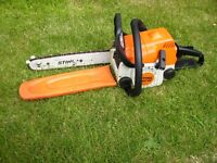 STIHL CHAINSAW MS180 Nice little logging saw ready for work.