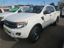 2012 Ford Ranger PX XL Double Cab Cool White 6 Speed Sports Automatic Utility Cardiff Lake Macquarie Area Preview