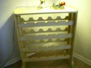 REAL WOOD WINE RACK HOLDS 30 BOTTLES AS IS 25.00