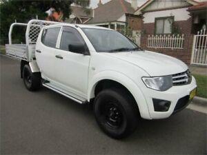 2014 Mitsubishi Triton MN MY15 GLX White 4 Speed Automatic Double Cab Utility Croydon Burwood Area Preview
