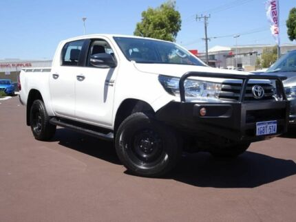 2016 Toyota Hilux GUN126R SR Double Cab White 6 Speed Sports Automatic Utility Osborne Park Stirling Area Preview