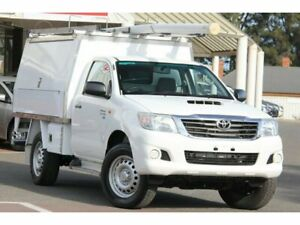 2014 Toyota Hilux KUN26R MY14 SR Glacier White 5 Speed Manual Cab Chassis Christies Beach Morphett Vale Area Preview