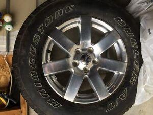 "jeep Wrangler Bridgestone Duelers with 18"" Chrome Rims""MUST GO"""