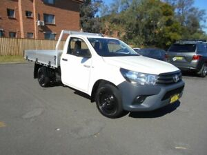 2016 Toyota Hilux GUN122R Workmate White 5 Speed Manual Cab Chassis Bankstown Bankstown Area Preview