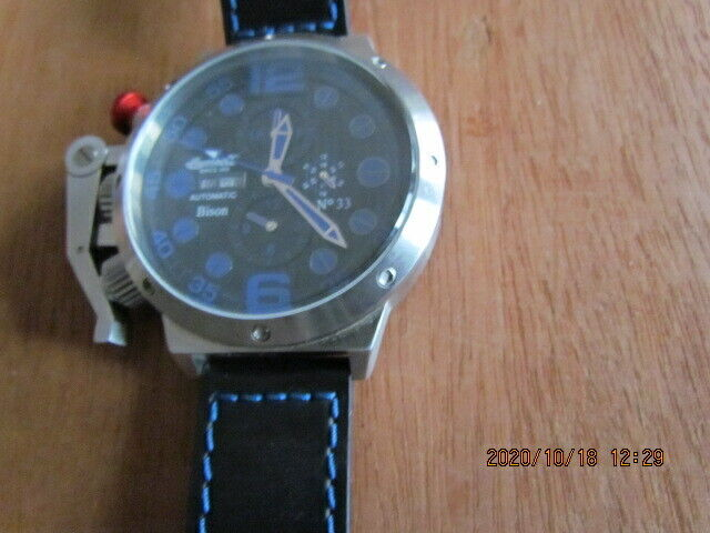 MENS  INGERSOLL BISON AUTOMATIC NUMBER 33  LIMITED ADDITON INI629/BL WATCH 52MM