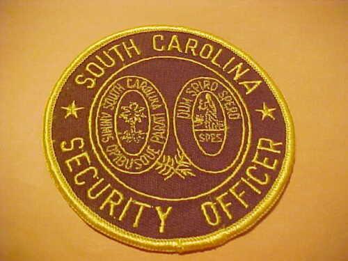 SOUTH CAROLINA SECURITY OFFICER POLICE PATCH SHOULDER SIZE UNUSED 4 X 4