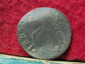 DETECTING FIND  GEORGE III HALF PENNY 1775 REV WAR LOVE TOKEN