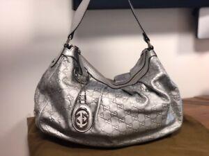 Silver Guccisima Sukey bag