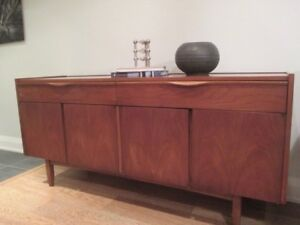 MCM Walnut Credenza by Kauffman Furniture Com.