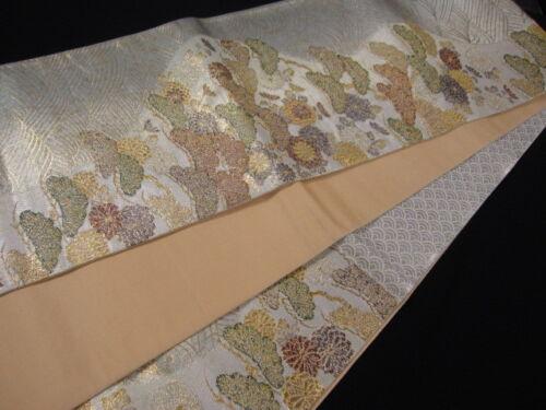 Japanese Kimono SILK FUKURO OBI TREE MATSU PINE (4522)
