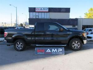 2010 Ford F-150 4X4 LEATHER SEATS, EXHAUST BEDCAP ,CHROME 5.4L