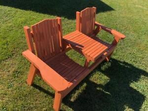 Wooden Deck furniture. Almost new.