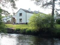 Large bright 2 bed flat on River Teign - Dunsford, 6 miles west of Exeter - to let unfurnished.