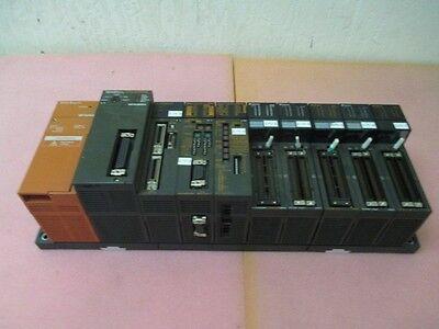 Mitsubishi Q2ASHCPU PLC Module w A1SX42 Input A1SY42 Output QC 24-R2 A1SD75P2-S3