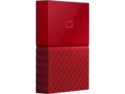 WD 4TB My Passport Portable Hard Drive USB 3.0 Model WDBYFT0040BRD-WESN Red