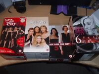 VHS TAPES - SEX AND THE CITY - VHS VIDEO TAPES- SEASONS 1 , 2 , 5 AND 6 - COMPLETE SETS