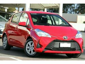 2018 Toyota Yaris NCP130R Ascent Cherry 4 Speed Automatic Hatchback Christies Beach Morphett Vale Area Preview