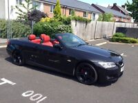 2011 BMW 320D M SPORT BLACK WITH RED LEATHER BLACK ALLOYS