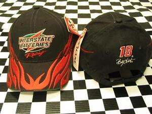 Bobby-Labonte-18-Red-Flame-Interstate-Batteries-Hat-by-Chase-Authentics-NASCAR