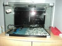 Fish tank with clearview 280 filter