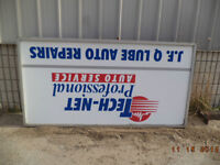 4' x 8' Lighted Sign