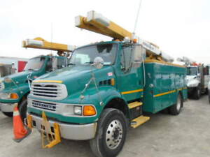 2003 STERLING M8500 BUCKET SERVICE TRUCK POSI PLUS