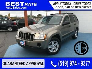 GRAND CHEROKEE LAREDO  - ANY CREDIT LOANS! - TOW PACKAGE - V8